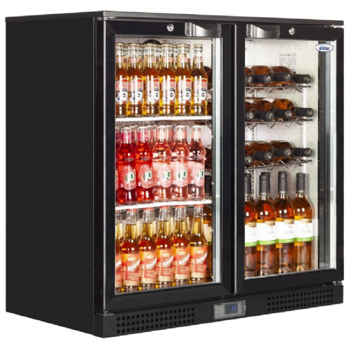 Elstar EM231S Low Height Double Sliding Door Bottle Chiller